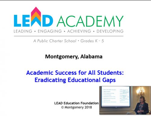 Montgomery LEAD Academy Update by Charlotte Meadows
